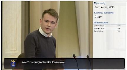 Alvar Euro Turun kaupunginvaltuustossa